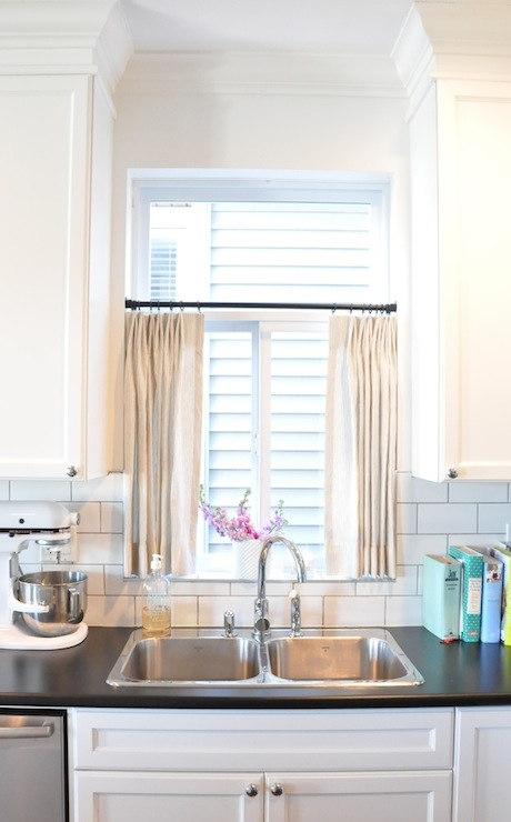 kitchen cafe curtains designer sinks transitional kerrisdale design
