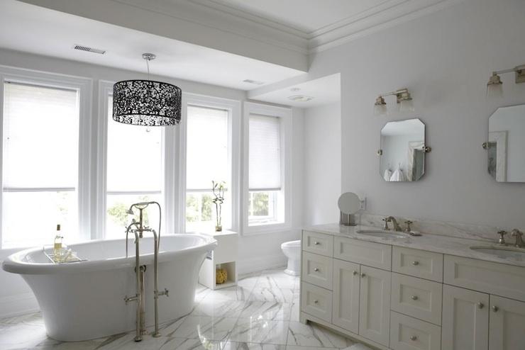 Cream Double Vanity  Transitional  bathroom  HGTV