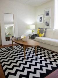 Black and White Chevron Rug - Contemporary - living room ...