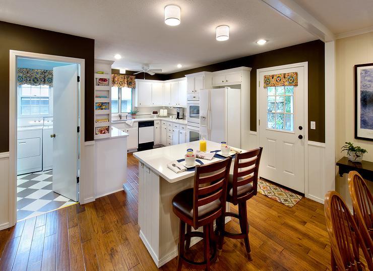 folding kitchen island nooks - benjamin moore brown horse