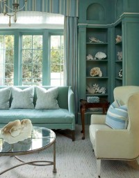 Turquoise Blue living Room - Cottage - living room - Decor ...