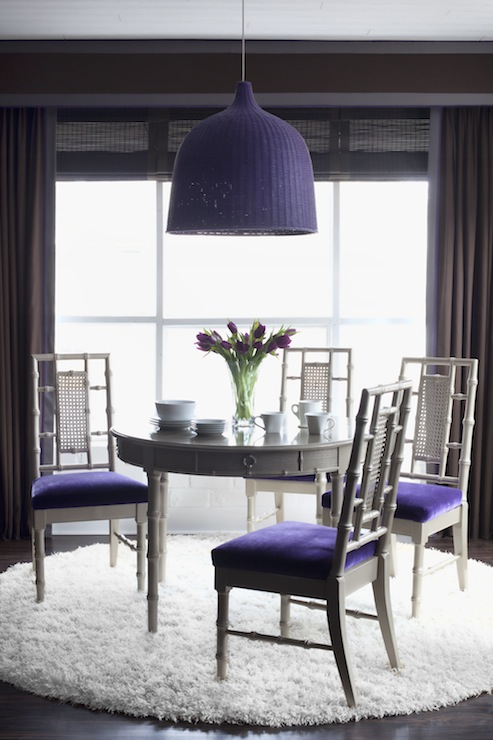 Purple and Gray Dining Room  Contemporary  dining room