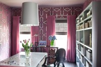 Pink Drapes - Contemporary - den/library/office - Decor Demon