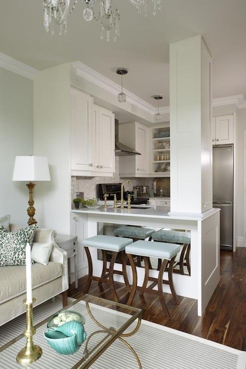 Blue Bar Stools  Transitional  kitchen  Para Paints