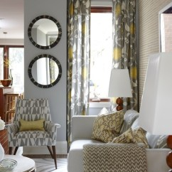 Grey And Yellow Curtains For Living Room Light Blue With Brown Couch Gray Contemporary Para Paints