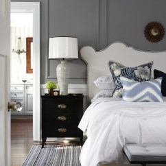 Studded Dining Room Chairs Folding Adirondack Chair Plan Headboard - Transitional Bedroom Para Paints Trendsetting Style Sarah Richardson ...