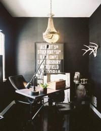 Black Grasscloth Wallpaper - Contemporary - den/library ...