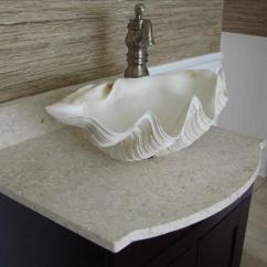 Marble Living Room Table Sets Chair Rail Ideas For Clam Sink, Bathroom Bowl Sink