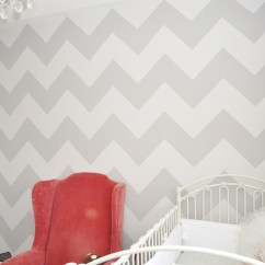 Gray Chevron Chair Folding Sports Chairs Walls - Contemporary Nursery Project