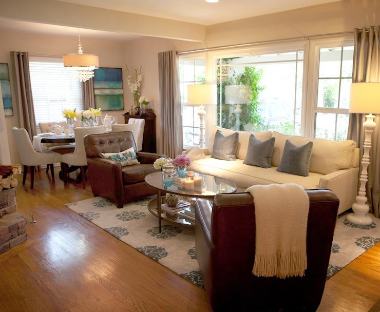 Open Floor Plan Dining Room  Transitional  living room