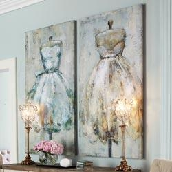Wall Decor Party Dress Canvases RSH Catalog