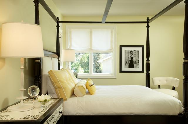 Black Canopy Bed  Contemporary  bedroom  Martha OHara Interiors