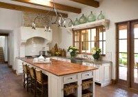 Reclaimed Wood Countertops - Mediterranean - kitchen ...
