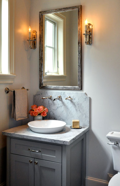 Gray Bathroom Vanity Transitional Bathroom Luxe Living Interiors