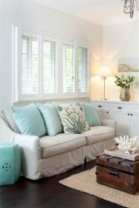 Aqua Accent Table - Cottage - living room - Porchlight ...