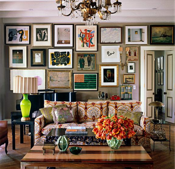 Patterned Sofas  Eclectic  living room  Kristen Buckingham Interior Design