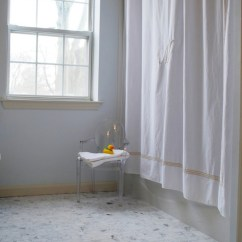 Ghost Chairs Decorative Office Monogrammed Shower Curtain - Transitional Bathroom Benjamin Moore Seafoam Teresa Meyer ...