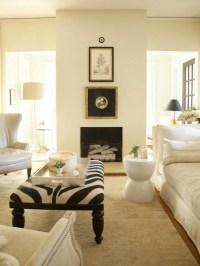 Zebra Ottoman - French - living room - Lisa Sherry Interieurs