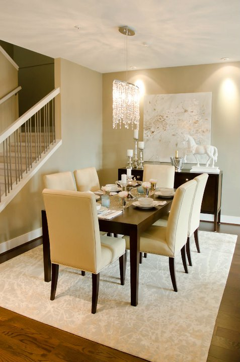 Espresso Dining Table  Contemporary  Dining Room
