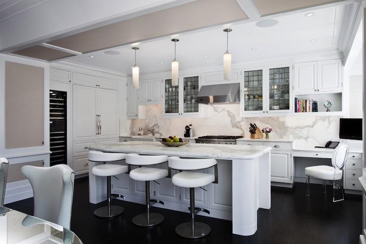 modern kitchen bar stools origami folding island cart white grade architecture