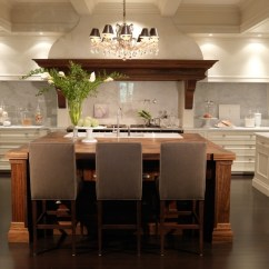Two Tone Kitchen Island Fall Decor Design Transitional House Home