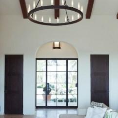 Restoration Hardware Sectional Sofa Linen Cheap Grey Fabric Corner Iron Candelabra - Contemporary Living Room ...