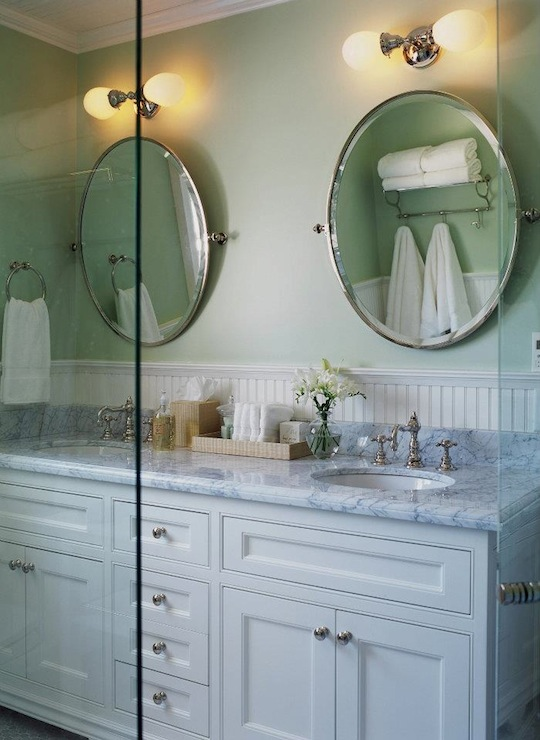 Double Vanity Mirrors For Bathroom