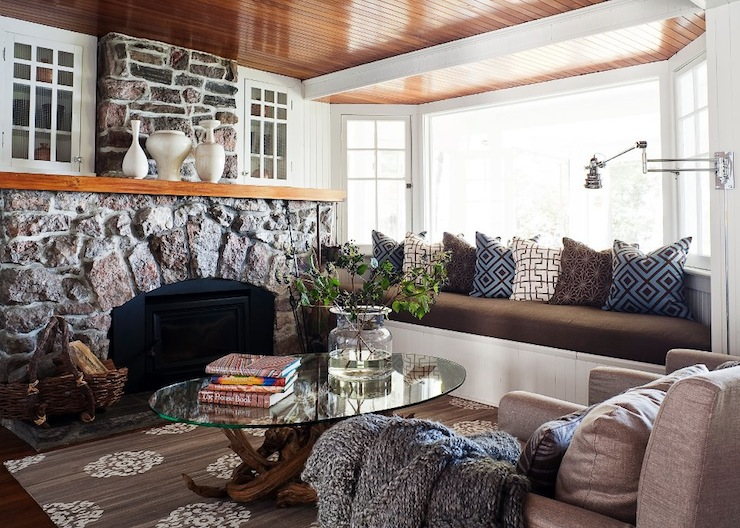 Chic Country Cabin TV Room