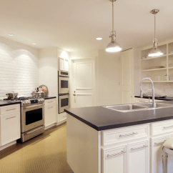 Beveled Subway Tile Kitchen Small Black Table Backsplash Transitional Cote De Texas