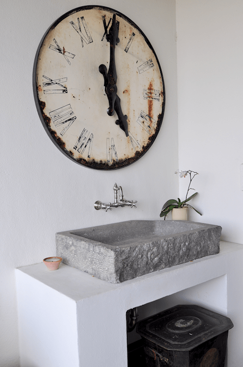 Concrete Vessel Sink  Eclectic  bathroom  Cote de Texas