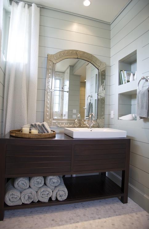Modern Washstand  Cottage  bathroom  Tracery Interiors