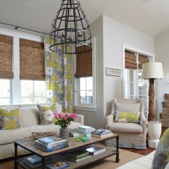 Beachy Living Room Curtains Furniture Indian Style Gray And Yellow Cottage Tracery Interiors