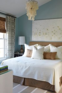 Blue and Brown Bedroom - Cottage - bedroom - Tracery Interiors