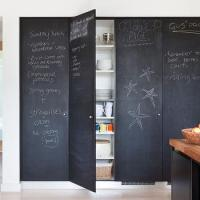 Chalkboard Sliding Doors - Contemporary - kitchen - Farrow ...