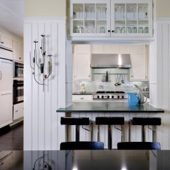 Black And White Kitchen Accessories Hutches For Pass Through - Cottage Donald Lococo Architects