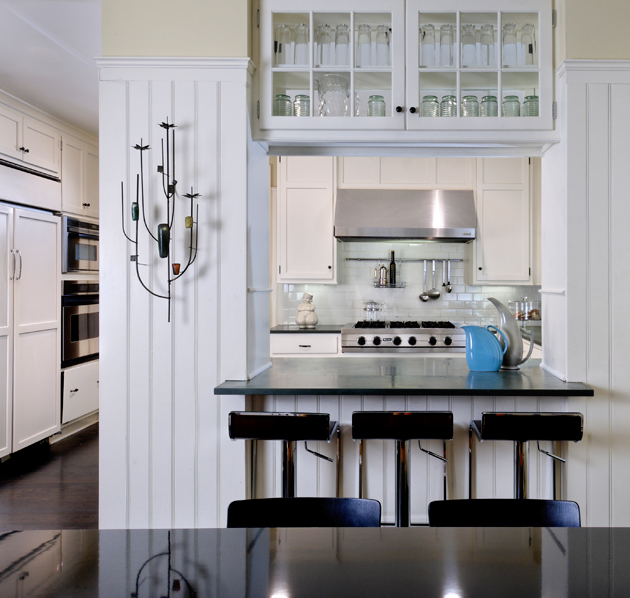 black and white kitchen accessories top cabinets pass through - cottage donald lococo architects