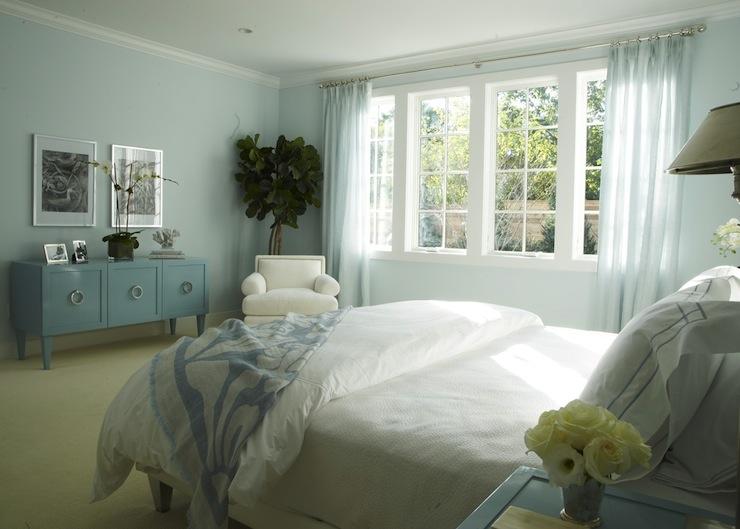 Blue Bedroom  Cottage  bedroom  Lynn Morgan Design