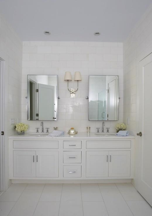 Built In Double Vanity  Transitional  bathroom  Lynn