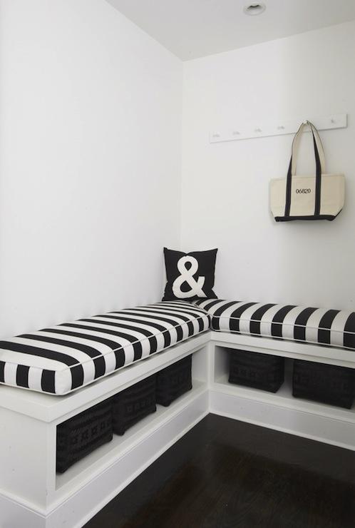 L Shaped Bench Cottage Laundry Room Lynn Morgan Design