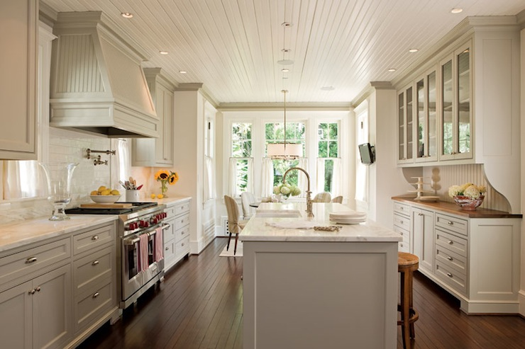 Beadboard Kitchen Ceiling Design Ideas
