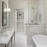Marble Top Double Washstand - Transitional - bathroom ...