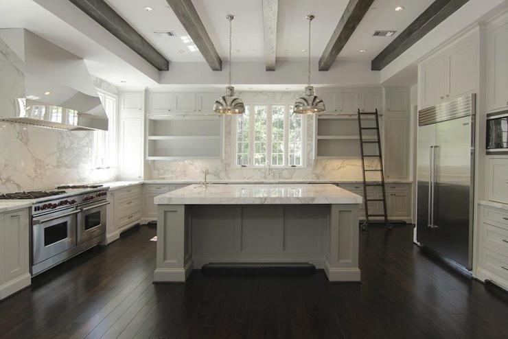 Gray Kitchen Island Contemporary Kitchen