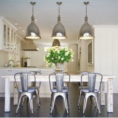 Dining Table With Metal Chairs Grey Fabric Chair Covers White Washed Contemporary Room Chango Co