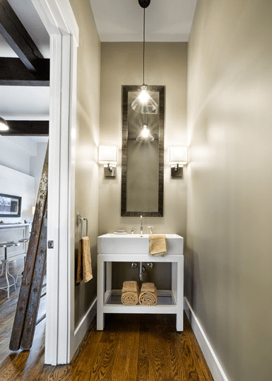 Restoration Hardware Washstand Contemporary Bathroom