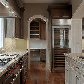 Kitchen Island Wine Cooler  Transitional  kitchen