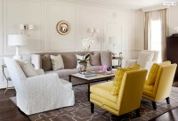 Yellow and Gray Living Room - Transitional - living room ...