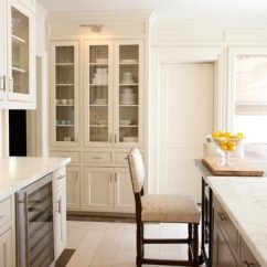 Two Tone Kitchen Island Lowes Remodel Cost Glass Front Cabinets - Contemporary ...