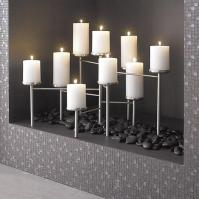 Pewter Fireplace Candelabra - Crate and Barrel