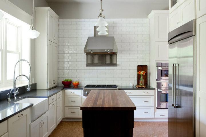 Raised Espresso Kitchen Island Design Ideas