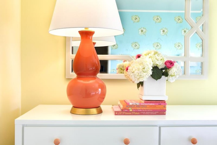 Coral Pink Lamp  Transitional  girls room  Laura